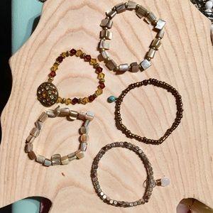 Lot of 5 bracelets